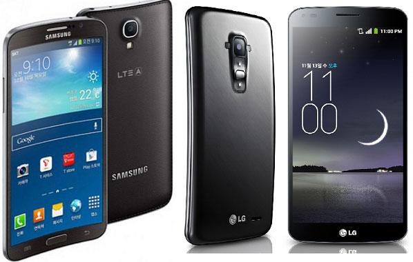 ������ LG G Flex � Samsung Galaxy Round �������� ����������������