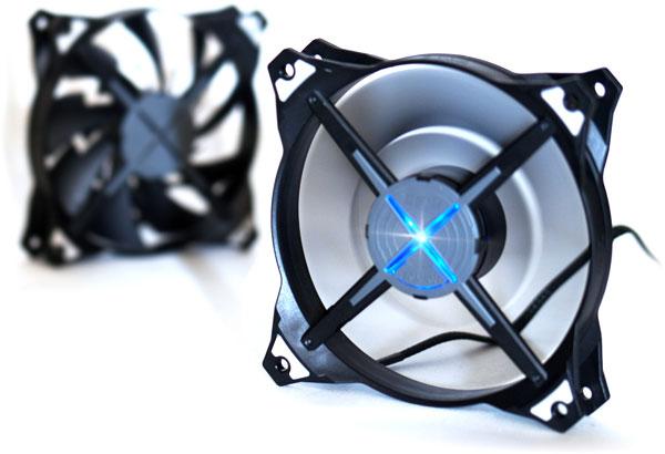 Вентилятор Zalman ZM-DF12 украшает синяя светодиодная подсветка