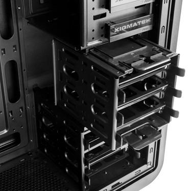 Корпус Xigmatek Midgard III рассчитан на системные платы типоразмера ATX, microATX и mini-ITX