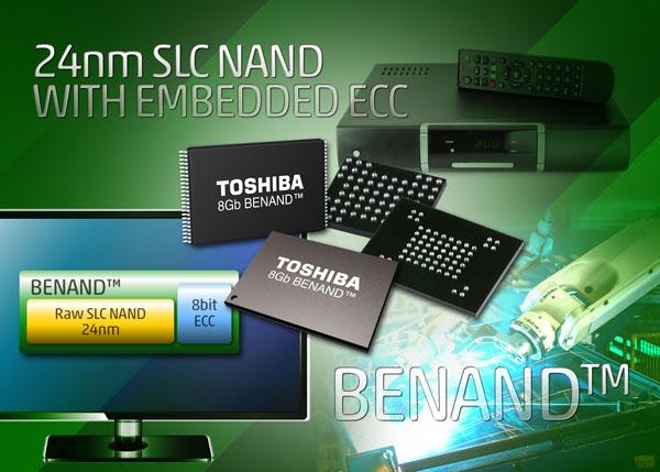 Флэш-память BENAND SLC NAND оснащена встроенным механизмом коррекции ошибок (ECC)