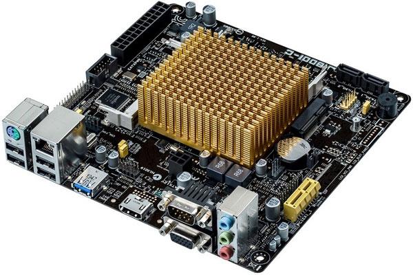 В оснащение платы Asus J1800I-C входят разъемы для двух модулей оперативной памяти SO-DIMM DDR3