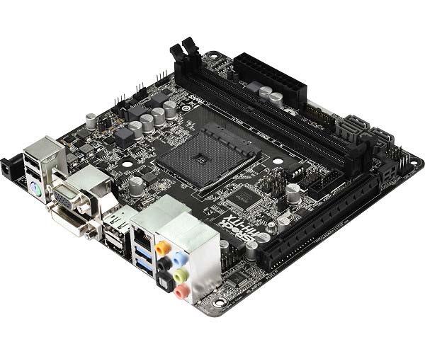 Оснащение платы ASRock AM1H-ITX включает видеовыходы D-Sub, DVI-D, HDMI и DisplayPort 1.2