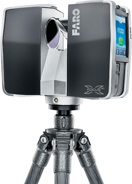 Портативный сканер Focus3D X 130 позволяет быстро и точно снять размеры зданий и других объектов