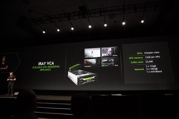 Система визуальных вычислений Iray VCA предназначена для ускорения работы модуля рендеринга Nvidia Iray