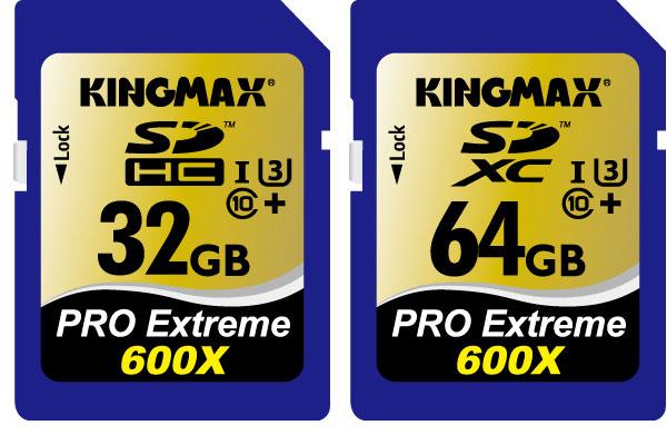 Карты памяти Кingmax SDXC и SDHC PRO Extreme превосходят требования стандарта UHS-I Speed Class 3