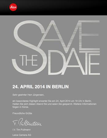Leica запланировала на 24 апреля официальное мероприятие, на котором ожидается дебют камеры Leica T type 701