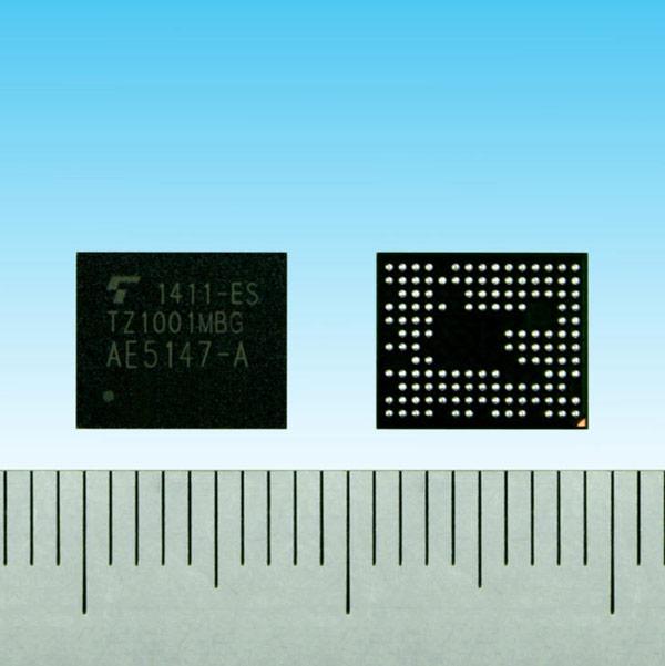 Процессор Toshiba TZ1001MBG предназначен для устройств носимой электроники