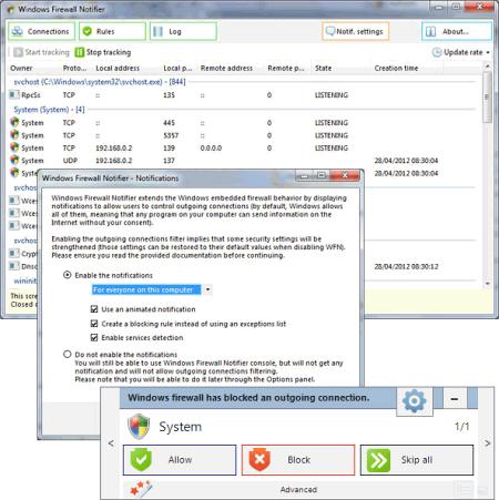 Windows Firewall Notofier