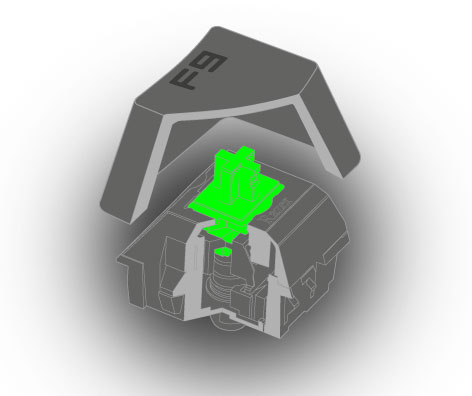 ������� Razer Mechanical Switch ������ ���� �����: Razer Green � Razer Orange