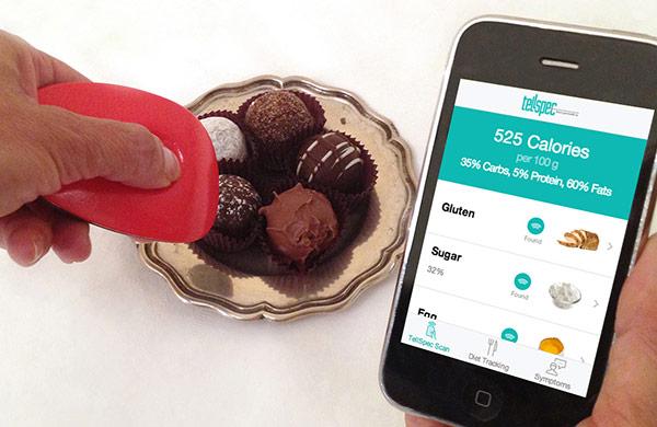 Сканер TellSpec способен определить калорийность и состав пищи