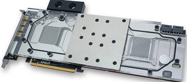 Водоблок для 3D-карты AMD Radeon R9 295X2 относится к категории водоблоков с полным покрытием