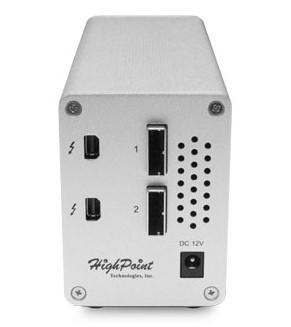 Производитель называет HighPoint RocketStor 6324L и 6328L самыми дешевыми адаптерами Thunderbolt 2