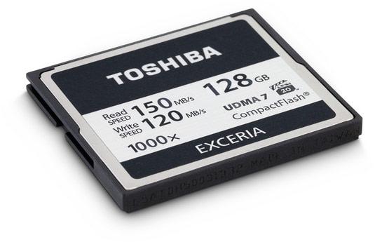 Карты памяти Toshiba Exceria 1000x выпускаются объемом 32, 64 и 128 ГБ