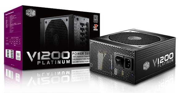 Блок питания Cooler Master V1200 Platinum (номер по каталогу — RSC00-AFBAG1-XX) соответствует спецификации ATX 12V V2.31