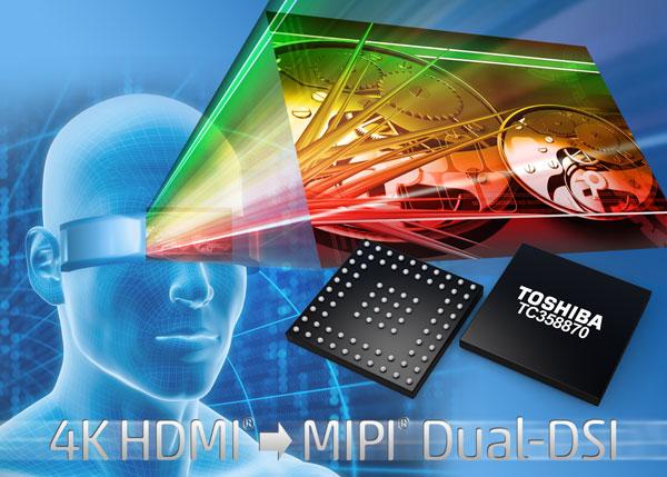 Микросхема Toshiba TC358870XBG предназначена для дисплеев высокого разрешения, включая устройства, надеваемые на голову