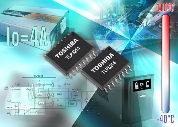 Оптопара Toshiba TLP5214 выпускается в тонком корпусе SO16L