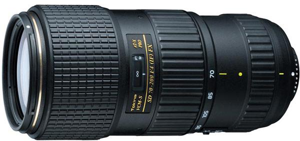 На японском рынке объектив Tokina AT-X 70-200mm F4 Pro FX VCM-S будет стоить около $1500