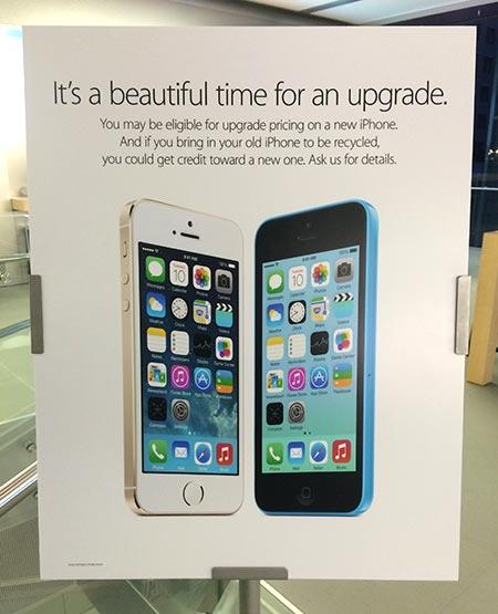 Смартфон Apple iPhone 5c может достаться бывшему владельцу iPhone 4 или iPhone 4S бесплатно