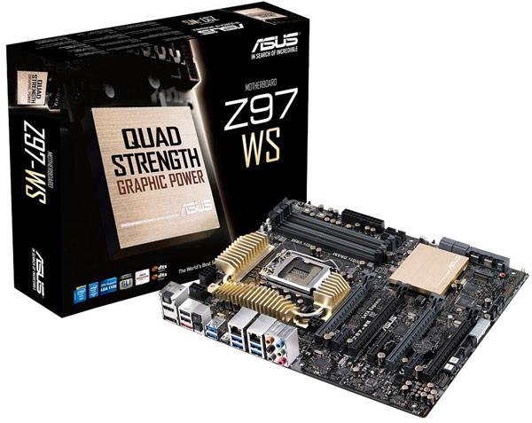 ��������� ����� Asus Z97-WS ������������ ������������ Nvidia 4-Way SLI � AMD 4-Way CrossFireX