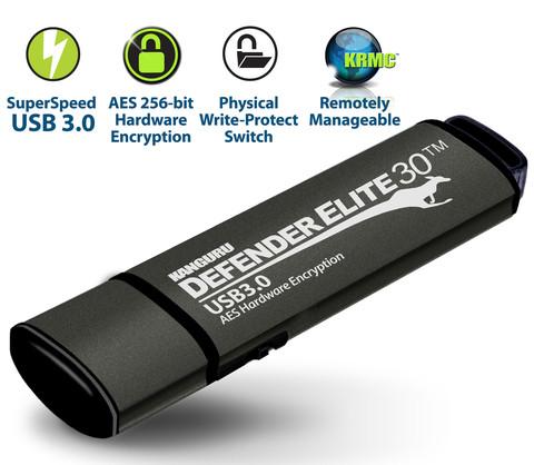 Скорость передачи данных Kanguru Defender Elite30 в режиме чтения достигает 140 МБ/с