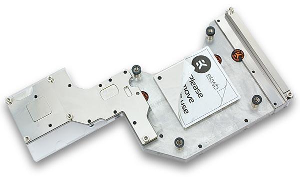 Основание водоблока EK-FB Asus R4BE Monoblock изготовлено из меди и никелировано