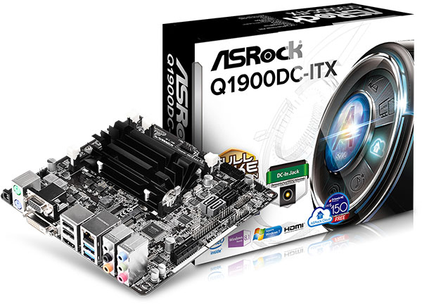 ��������� ����� ASRock Q1900DC-ITX �������� �� ������ ����� USB 3.0 � USB 2.0