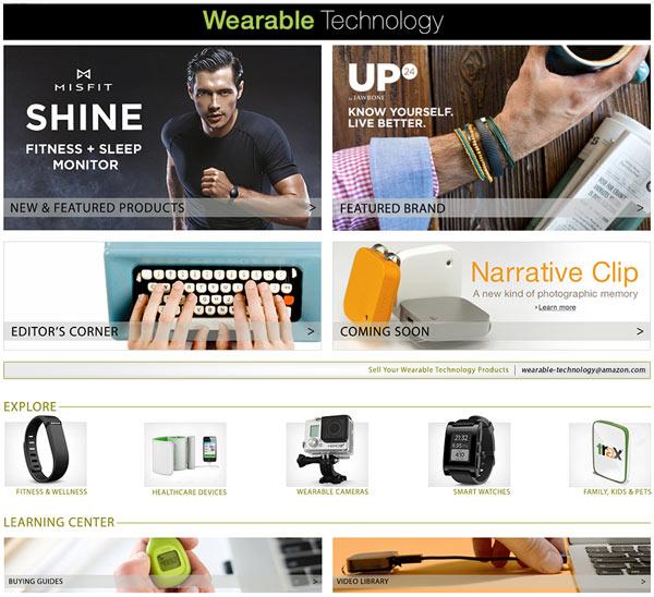 ����������� �������� Amazon Wearable Technology �������� �������� ����������, ����� ����, ������� ������ � ������ �������� ����������