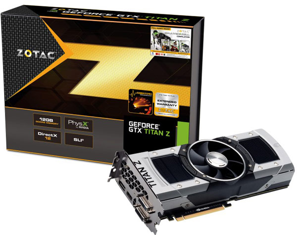 Рекомендованная розничная цена 3D-карты Nvidia GeForce GTX Titan Z в России составляет 114 990 рублей