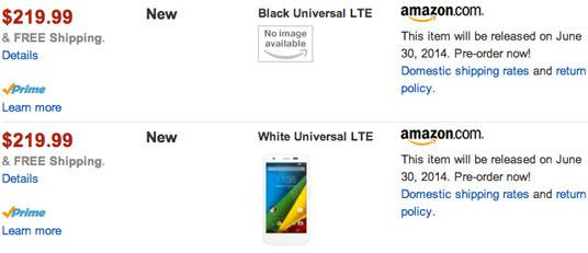 �� ����� Amazon �������� ������ ��������� Moto G � ���������� LTE