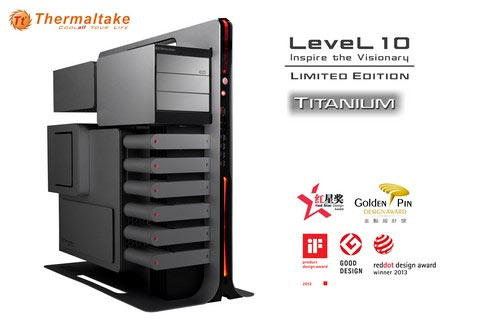 Корпус Thermaltake Level 10 Titanium Limited Edition Gaming Station несколько отличается от базовой модели