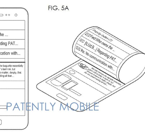 Экраны, сворачиваемые трубочкой, пока не встречаются в смартфонах, но как их можно использовать, в Samsung уже знают