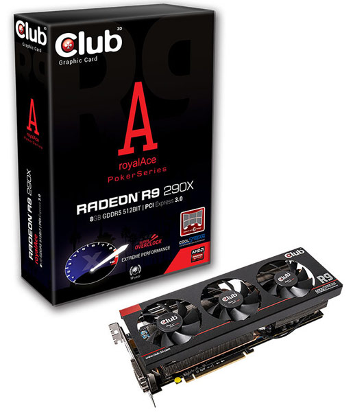 ����������� Club 3D ��������� 3D-����� Radeon R9 290X royalAce � 8 �� ������