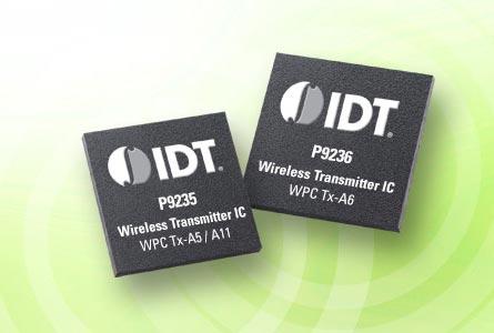 Передатчики беспроводного питания IDT P923x характеризуются высокой степенью интеграции