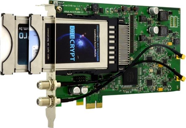 NetUP Universal Dual DVB-CI — первая карта для слота PCIe, поддерживающая DVB-S, DVB-S2, DVB-T, DVB-T2, DVB-C и DVB-C2