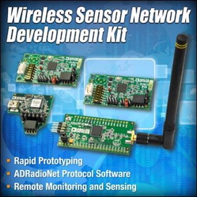 Analog Devices предлагает наборы для разработки беспроводных сетей датчиков EV-ADRN-WSN-1Z и EV-ADRN-WSN-2Z