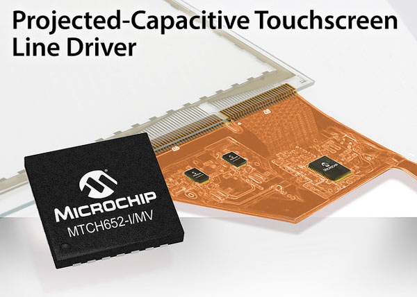 ���������� Microchip MTCH652 ������������ � ������ Microchip 3DTouchPad