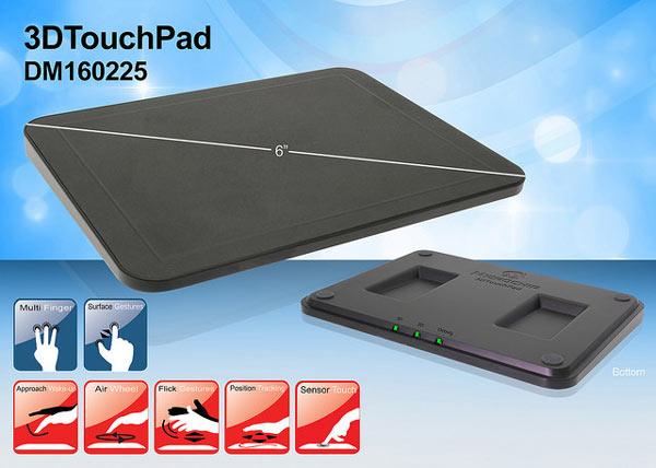 Панель Microchip 3DTouchPad (индекс по каталогу DM160225) уже доступна для заказа
