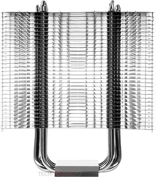 Радиатор, шесть тепловых трубок диаметром 6 мм и крепление Thermalright HR-02 Macho Zero покрыты черным никелем