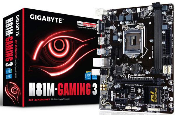 ����� Gigabyte H81M-Gaming 3 ������������ ���������� Intel � ���������� LGA 1150