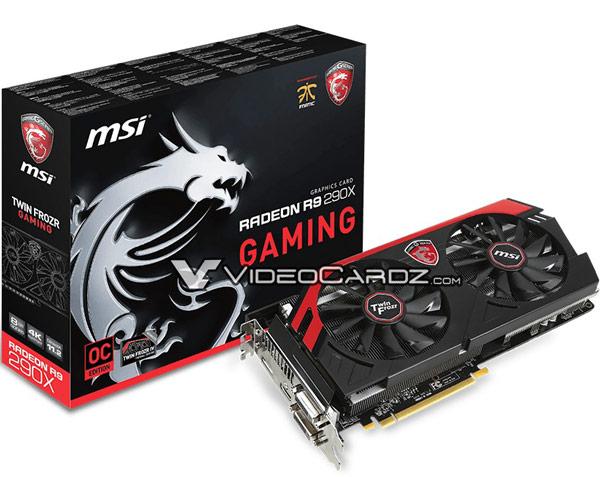 3D-карта MSI Radeon R9 290X Gaming с 8 ГБ памяти разогнана в заводских условиях