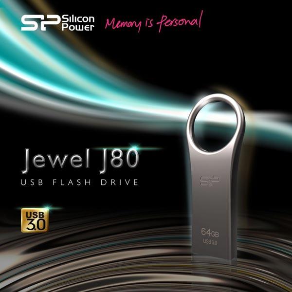 Накопитель Silicon Power Jewel J80 выпускается объемом 8, 16, 32 и 64 ГБ