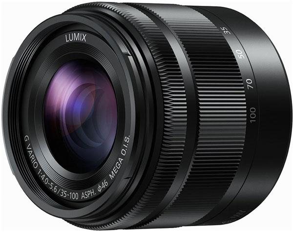Объектив Panasonic Lumix G Vario 35-100mm F4.0-5.6 ASPH. / MEGA O.I.S. оснащен системой оптической стабилизации и шаговым приводом автоматической фокусировки