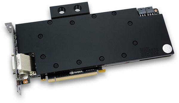 EK Water Blocks применила в водоблоке для 3D-карты Nvidia GeForce GTX 980 схему с разделением потока охлаждающей жидкости