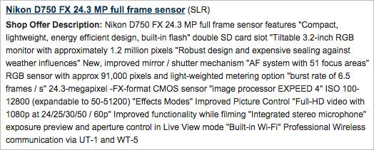 Nikon D750, характеристики