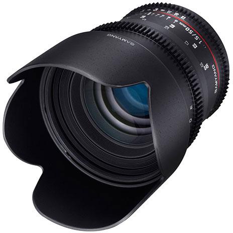 Оптическая схема объектива Samyang 50mm T1.5 AS UMC состоит из девяти элементов в шести группах