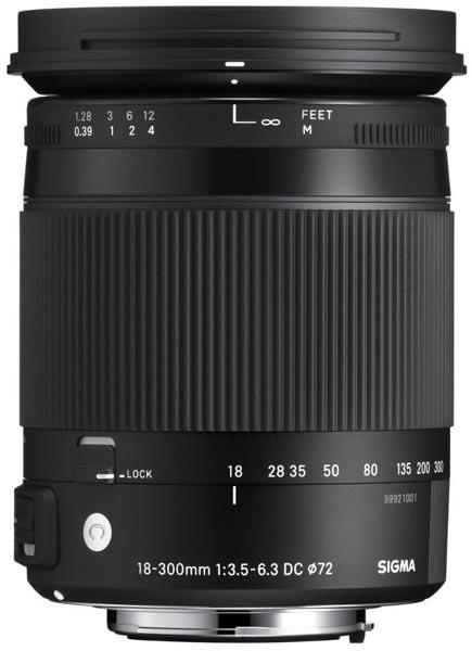 Ориентировочная цена объектива Sigma 18-300mm f/3.5-6.3 DC OS HSM Macro - $600