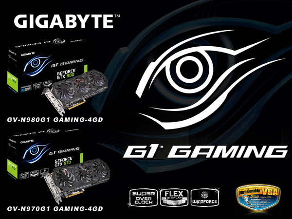 ������ GV-N980G1 Gaming-4GD � GV-N970G1 Gaming-4GD �������� ��������� ���������� WindForce