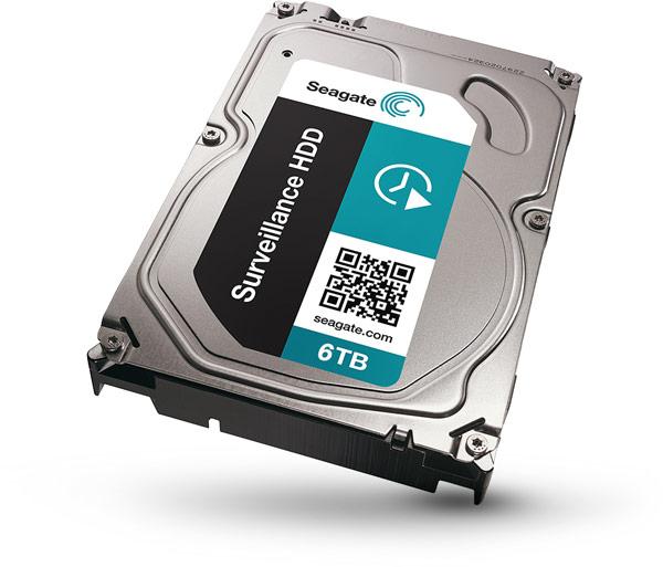 Емкость жестких дисков Seagate Surveillance HDD достигает 6 ТБ