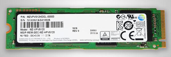 Твердотельные накопители Samsung SM951-NVMe демонстрируют скорость чтения до 2260 МБ/с, записи — до 1600 МБ/с