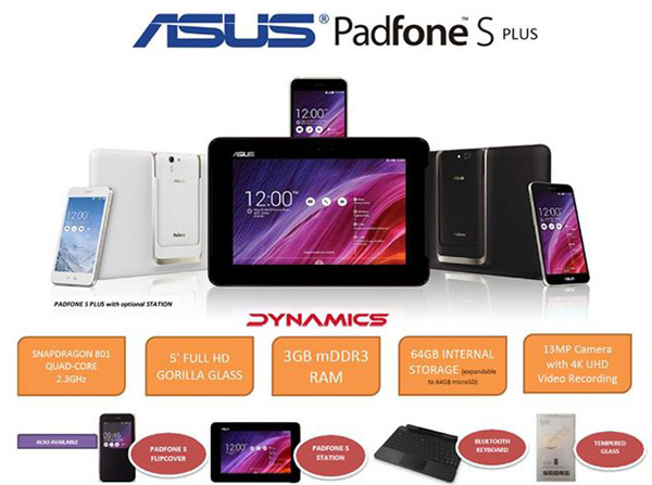������� Asus PadFone S Plus � ��������  �������� 8 ������